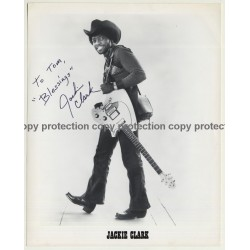 Jackie Clark / Nitty Gritty Dirt Band - UA Press Photo - Autographed  '1970s