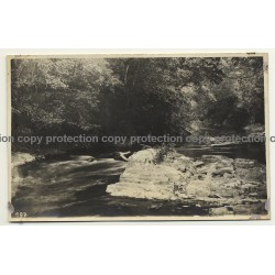 Congo Belge: River, Rocks & Rapids / Léopold Gabriel (Vintage RPPC ~1920/1930s)