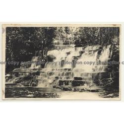 Congo Belge: Waterfall & Rapids / Léopold Gabriel? (Vintage RPPC ~1920/1930s)