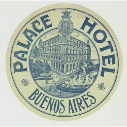 Palace Hotel - Buenos Aires / Argentina (Vintage Luggage Label)