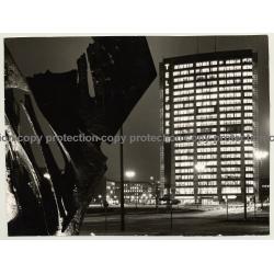 Berlin: Telefunken Haus At Night (Vintage Photo: Wolfgang Klein 1970s)