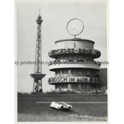 Berlin: Funkturm & 70s Racing Car / Mercedes-Benz - Bosch (Vintage Photo: Wolfgang Klein 1970s)
