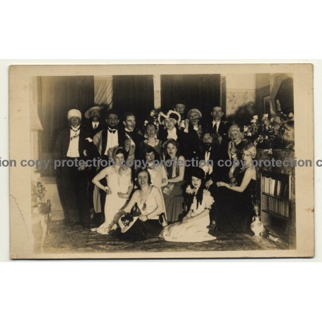 Group Photo: Large Carnival Society (Vintage RPPC 9.2.1932)