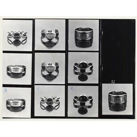 Contact Sheet: PRAHA Watches *1 (Vintage Advertisement Photo B/W 1980s)