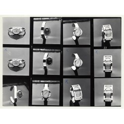 Contact Sheet: PRAHA Watches *2 (Vintage Advertisement Photo B/W 1980s)