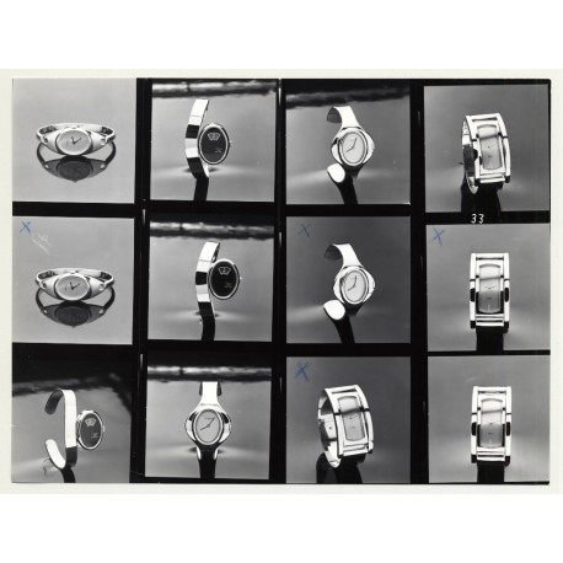 Contact Sheet: PRAHA Watches *2 (Vintage Advertisement Photo B/W 1980s)