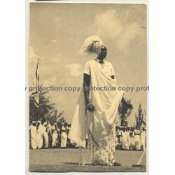 Neu Usumbura / Burundi: Mwami Van Ruanda / Chief (Vintage Photo B/W ~1950s)