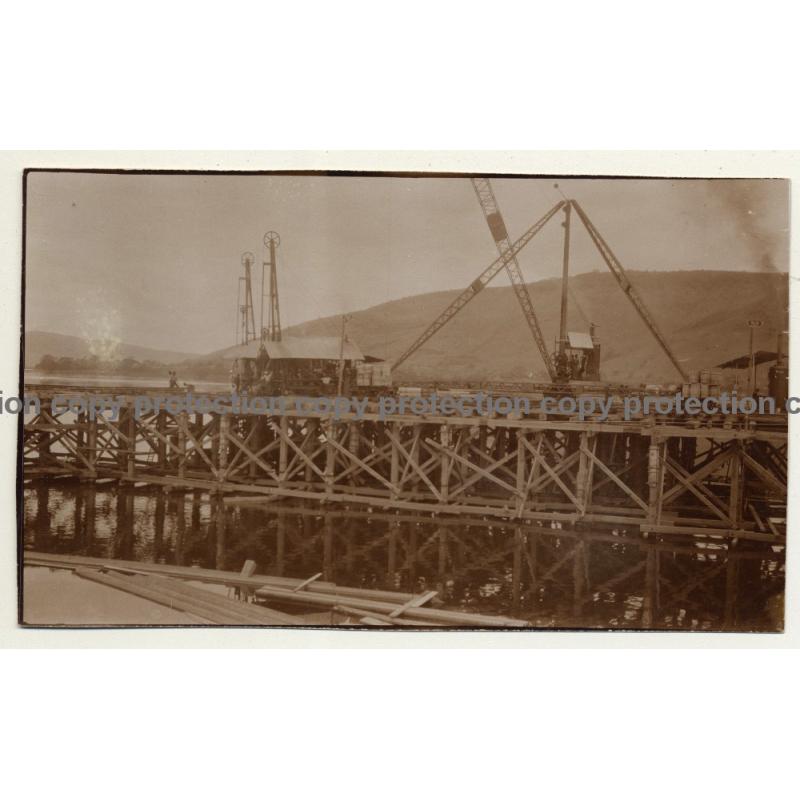 Congo-Belge: Chantier Du Port D'Ango / Shipyard (Vintage 2nd Gen.Photo B/W ~1930s)