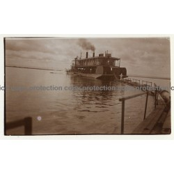Congo-Belge: New Dredge For Kasai / Draguer (Vintage 2nd Gen.Photo B/W ~1930s)
