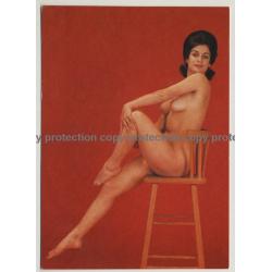 Nude Showgirl Gilda / Night-Cabaret Dorett - Kurfürstendamm (Vintage PC Berlin 1960s)